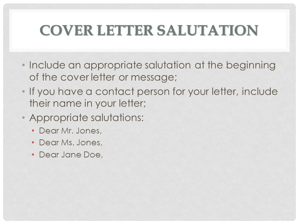 letter of application yours sincerely - Resume Cover Letter Salutation