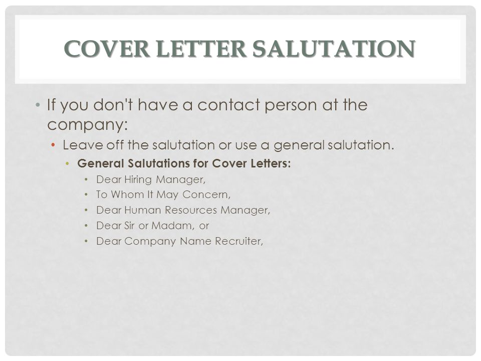 Fresh Essays | cover letter unknown recipient sample