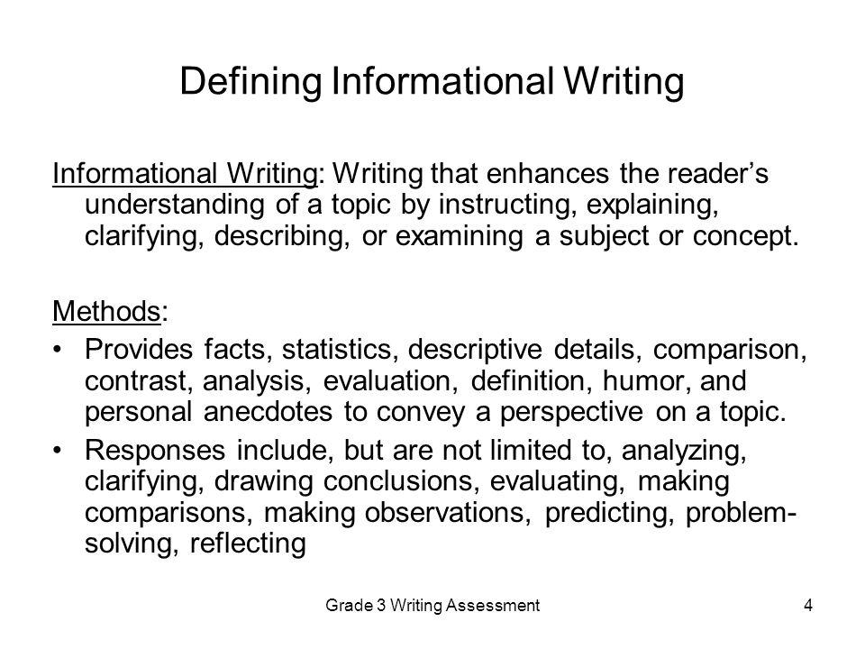 Informational essays 5th grade