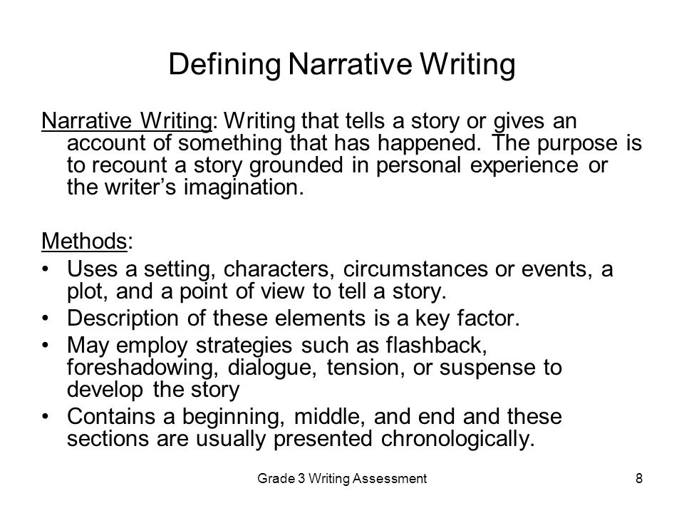 purpose of narrative writing Involved in narrative speaking and writing unfinished stories that students might use for this purpose narrative writing activities 87.