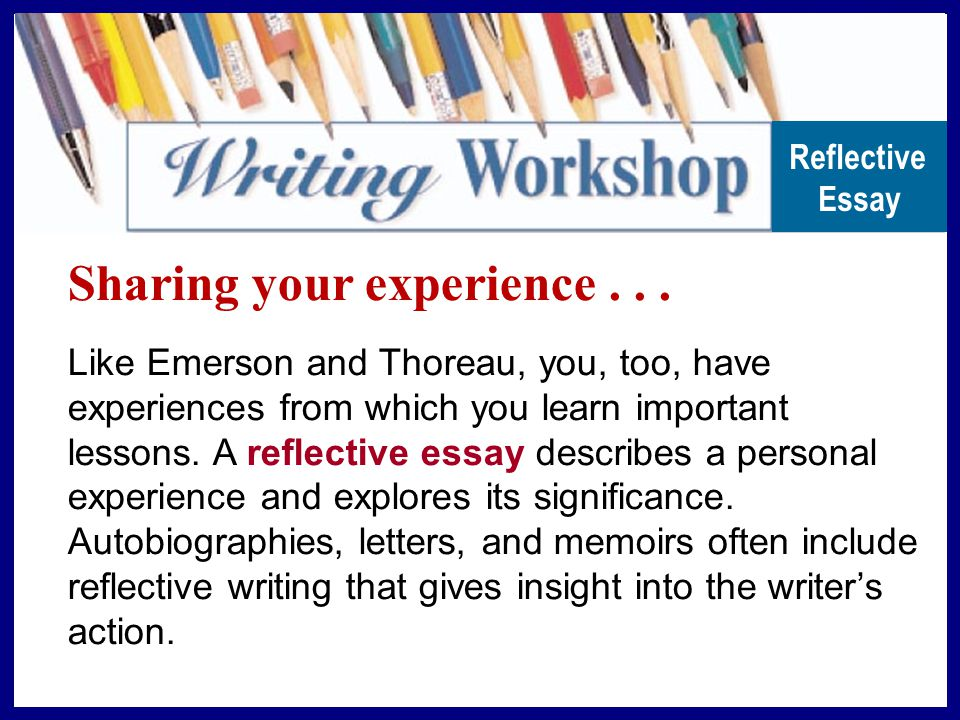 sharing your experience from reading to writing in their essays  sharing your experience
