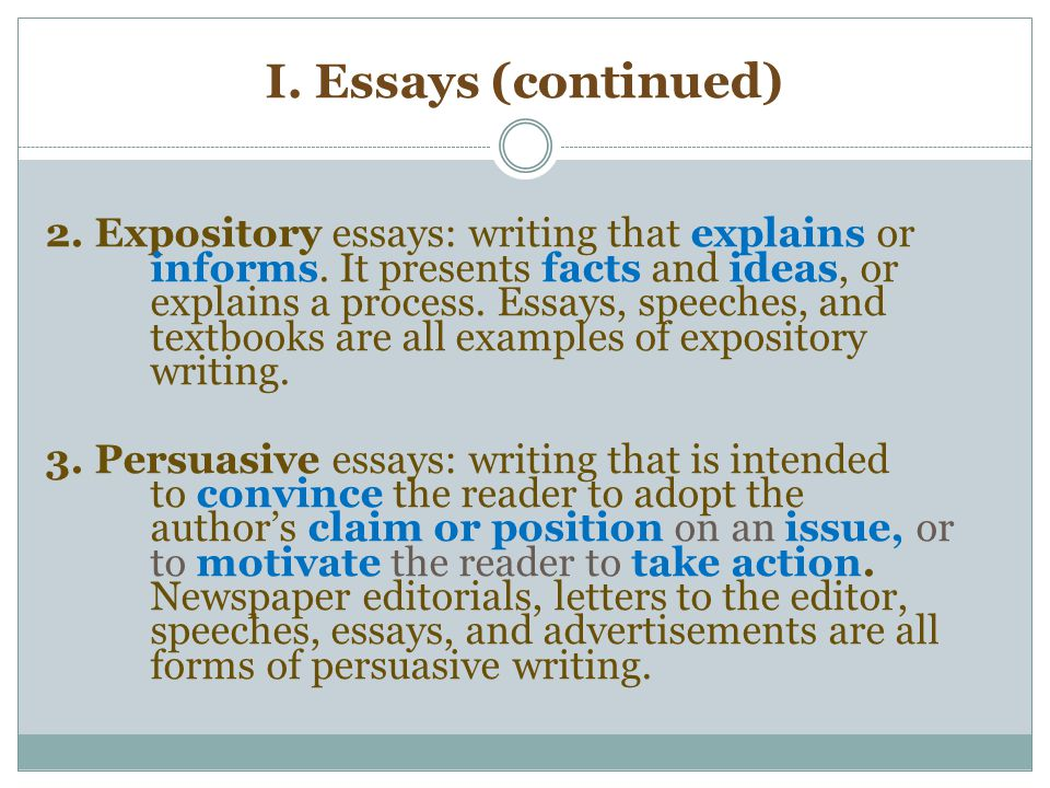 writing a good expository essay Writing expository essays quickly doesn't have to be stressful—begin with writing a topic sentence this will help you organize your thoughts you can make the writing process easier by looking for good examples of your topic doing this makes the expository essay more credible.