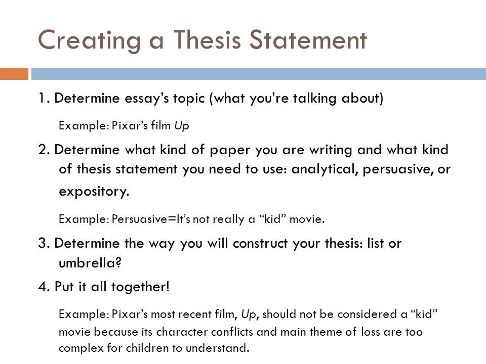 Purdue OWL: Creating a Thesis Statement