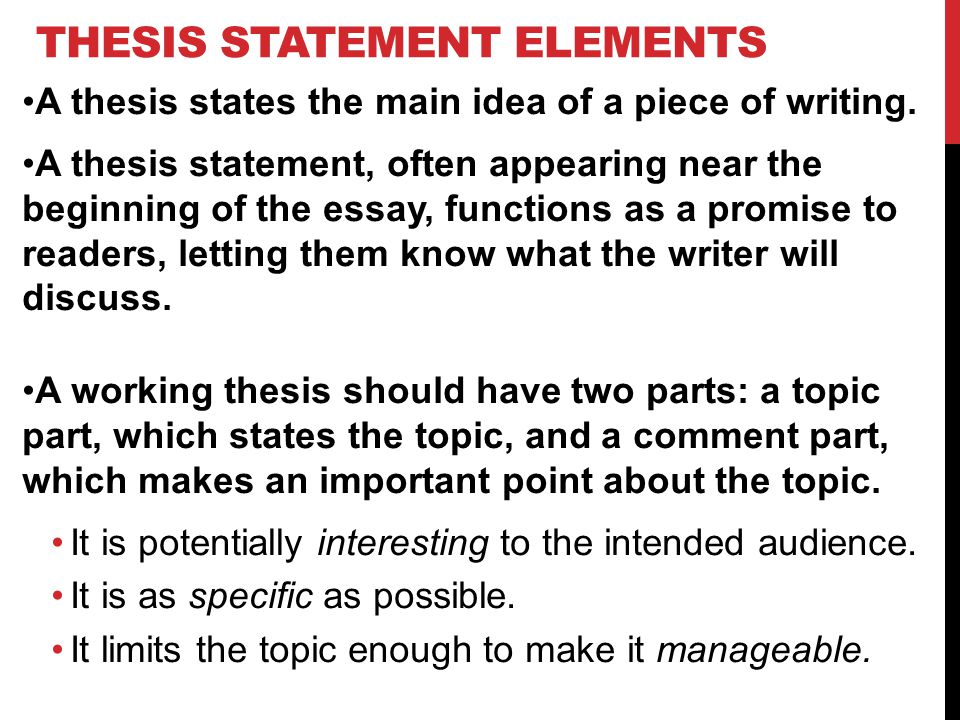 How To Write A Working Thesis Statement