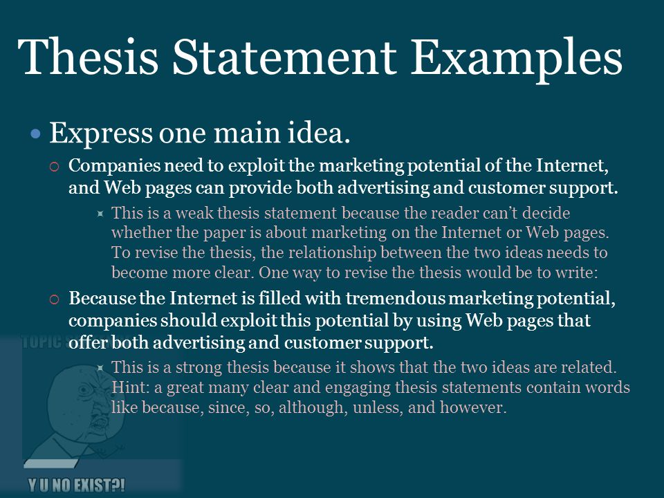 Marketing thesis statement