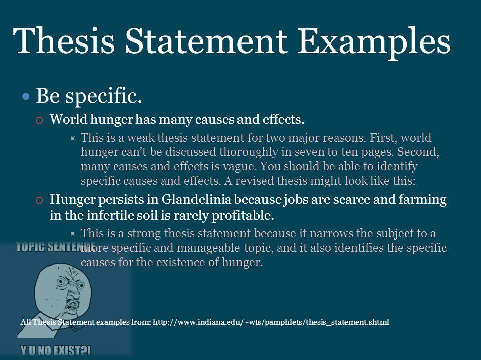 Persuasive Essay Thesis Statement Examples
