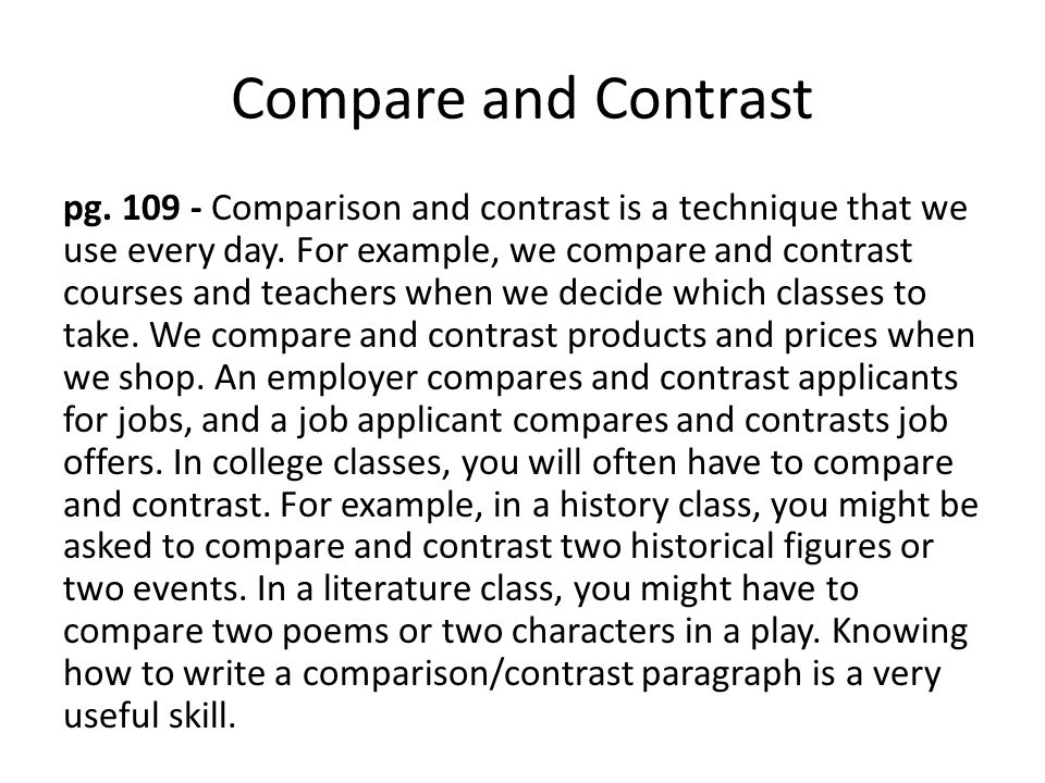 compare and contrast two literary works from this course that share the same theme using the themes  Teaching compare & contrast using a notebook entry great introduction that includes using a fun picture book find this pin and more on new teachers by teaching with a mountain view compare and contrast the most important points presented by two texts on the same topic.