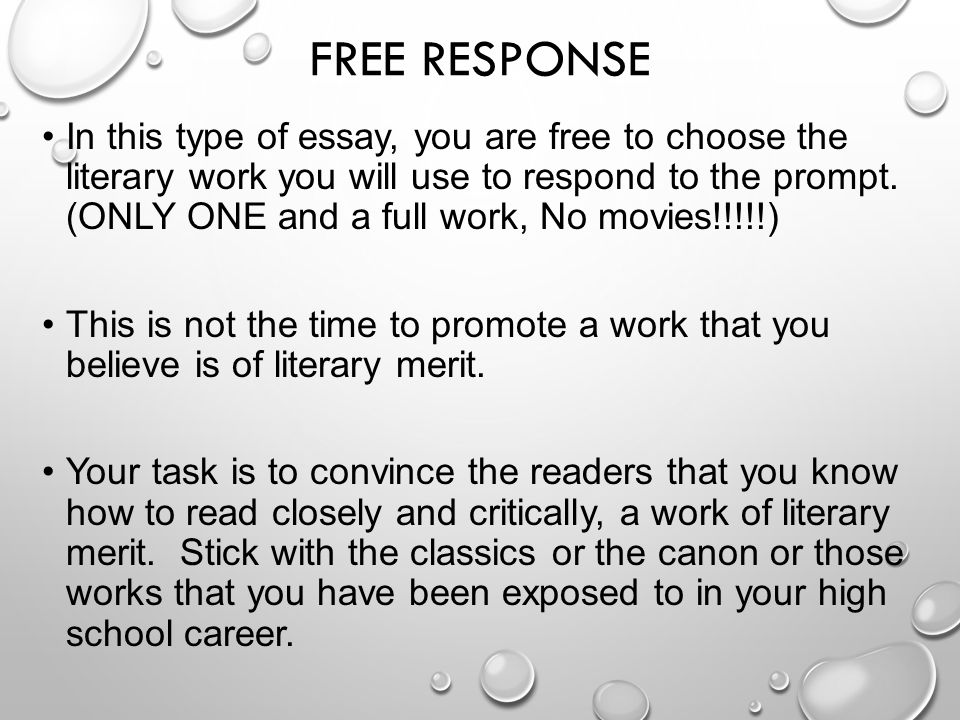 tutorial responses essay Since this has been a very requested topic lately, here are my personal tips on how to answer a long answer or essay question on an exam.