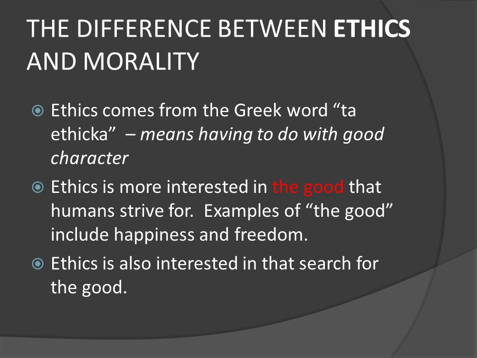 Essays on morals and ethics
