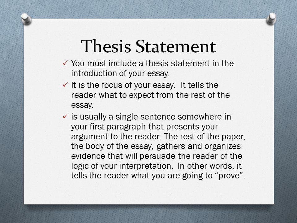 Essay With Thesis Statement And Topic Sentence