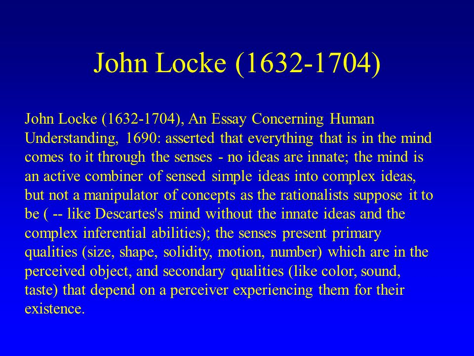 john locke and essay concerning human understanding
