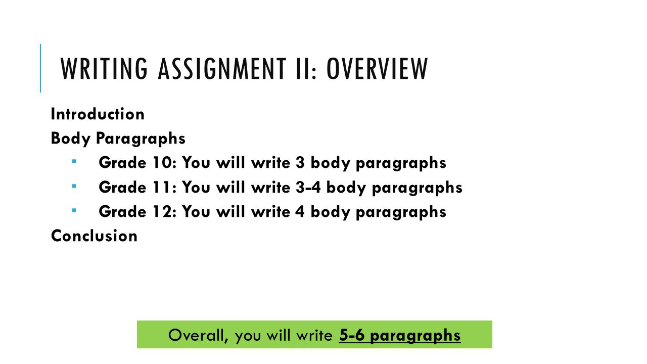 How long does it take to write a 11 paragraph essay?