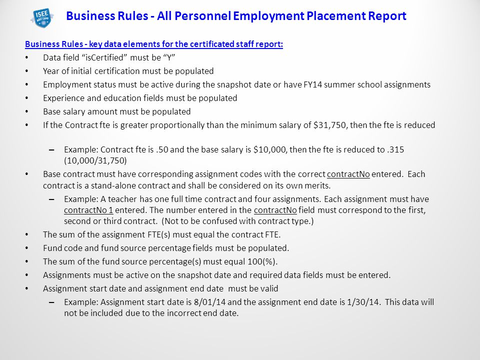 Staffing Reports & Salary Based Apportionment. Provided By The