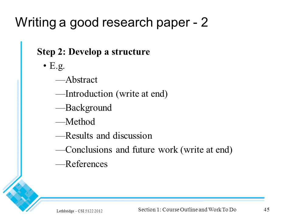 references in a research paper Citing references in scientifi c research papers compiled by timothy t allen, revised august, 2000 this paper greatly expands upon a handout originally prepared by an unknown author for distribution to students.
