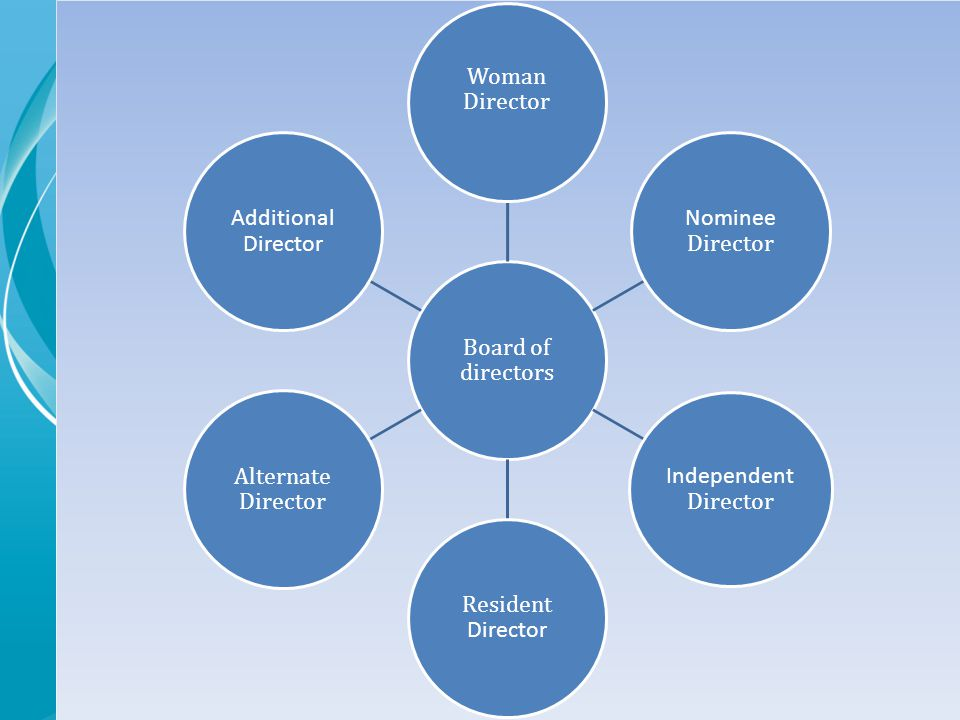 Board of directors Woman Director Nominee Director Independent Director Resident Director Alternate Director Additional Director
