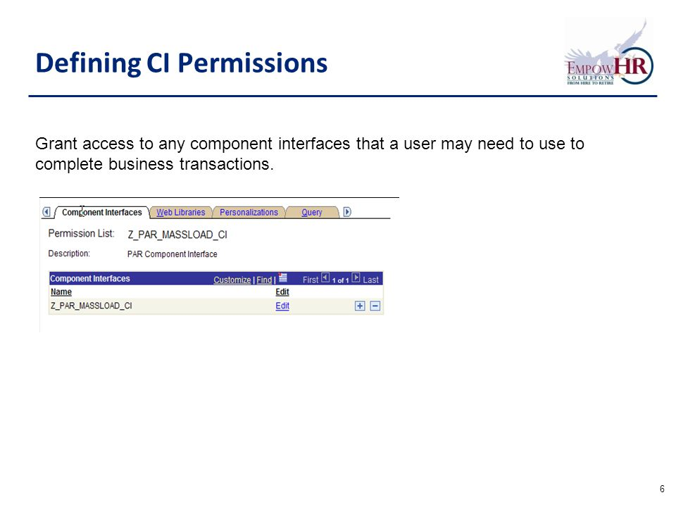 grant permissions on user