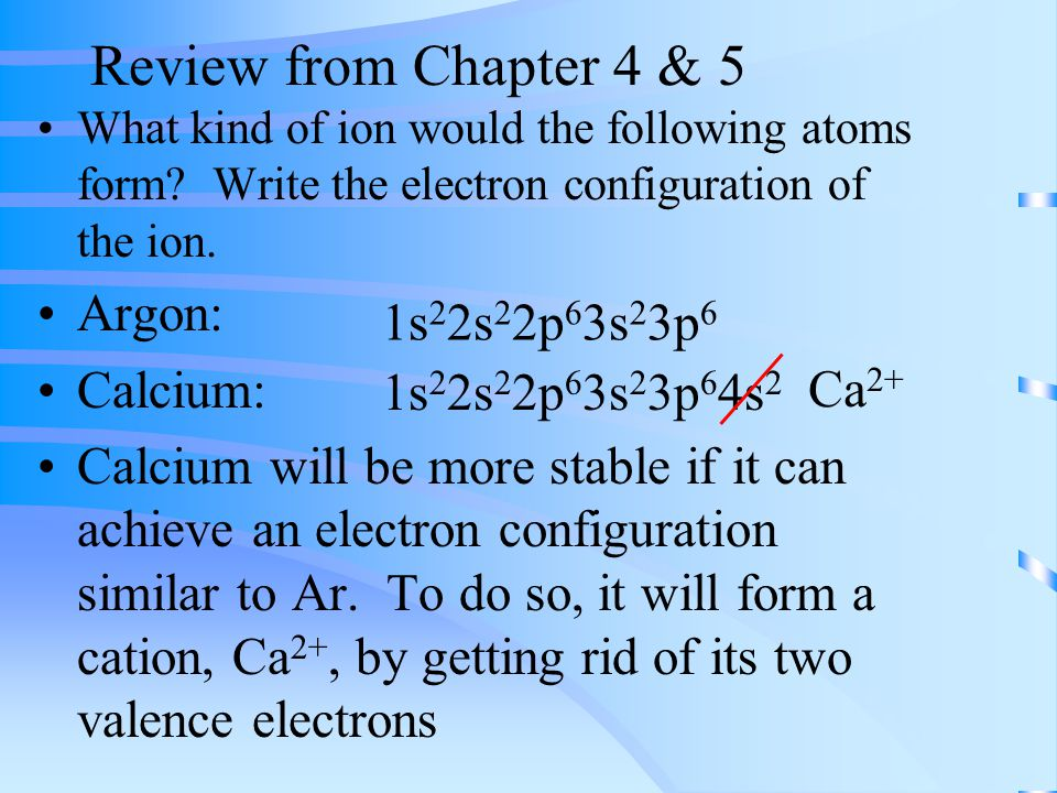 Some observations from the final exam…. Review from Chapter 4 & 5 ...