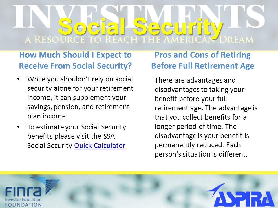 Social Security How Much Should I Expect to Receive From Social Security.