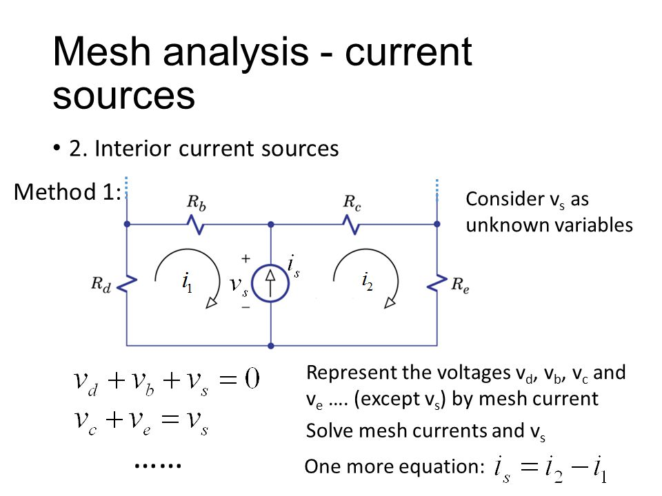 Mesh analysis - current sources 2.