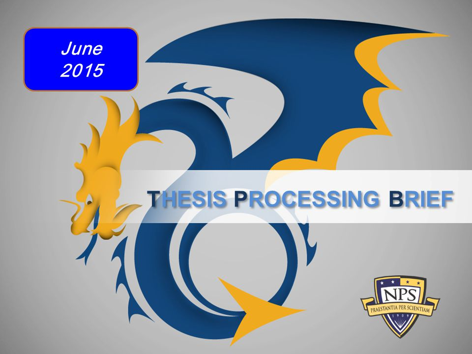 THESIS PROCESSING BRIEF June 2015