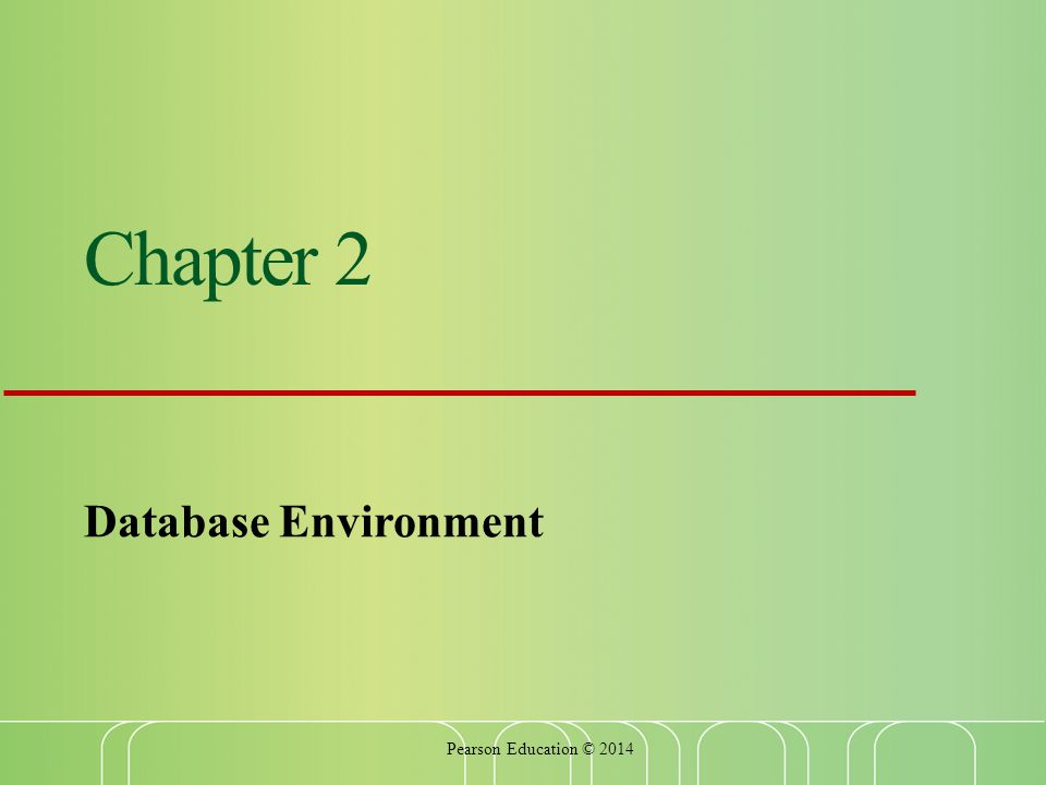 Chapter 2 Database Environment Pearson Education © 2014