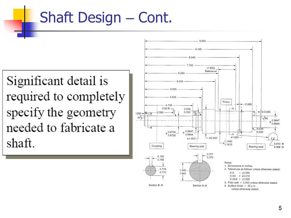 5 Shaft Design – Cont.