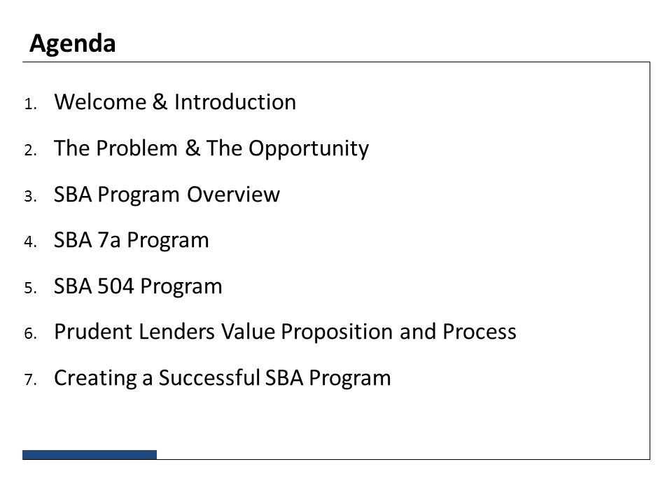 SBA Lending & Better Access to Capital MBS 6 th Small Business ...