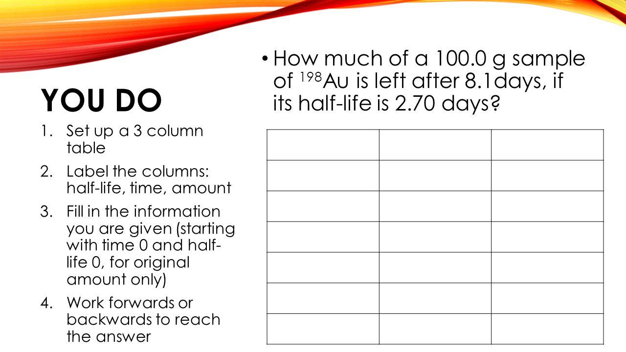 Half Life Practice Worksheet - Page 7 - fallcreekonline.org