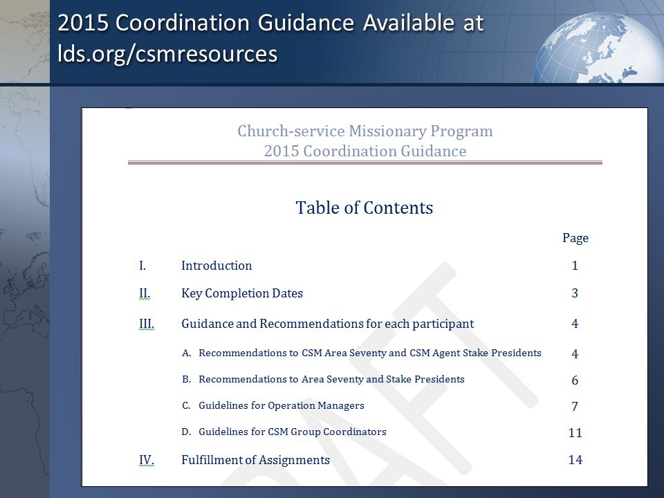 Church-Service Missionary Program Coordination Process for ppt ...