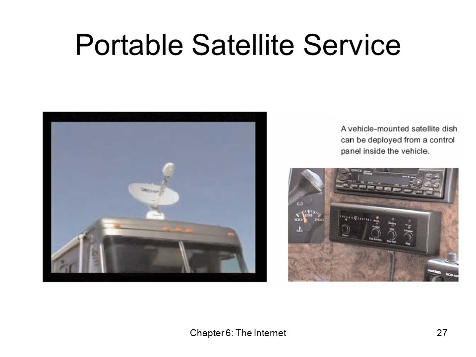 Chapter 6: The Internet27 Portable Satellite Service