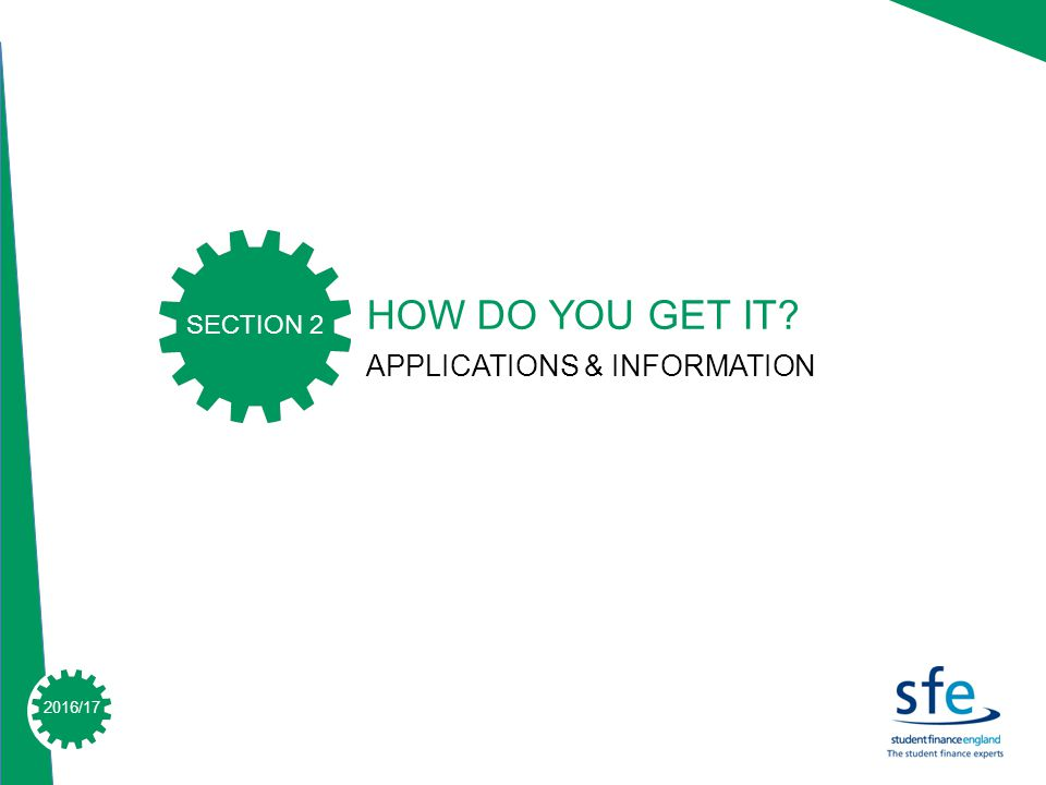 2015/ /17 HOW DO YOU GET IT APPLICATIONS & INFORMATION SECTION 2