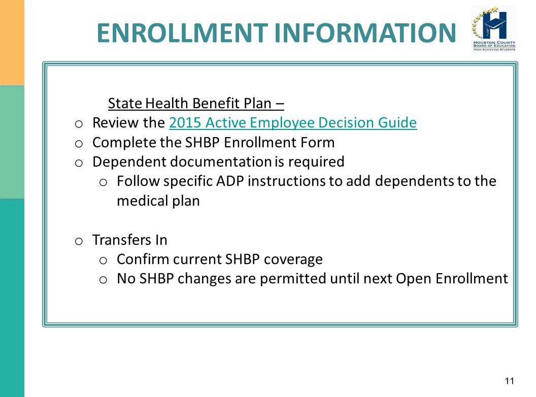 Houston County Board of Education New Employee Benefits ...