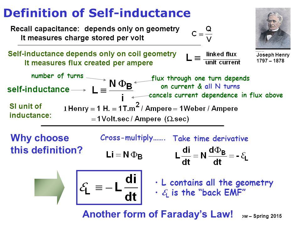 Inductance définition