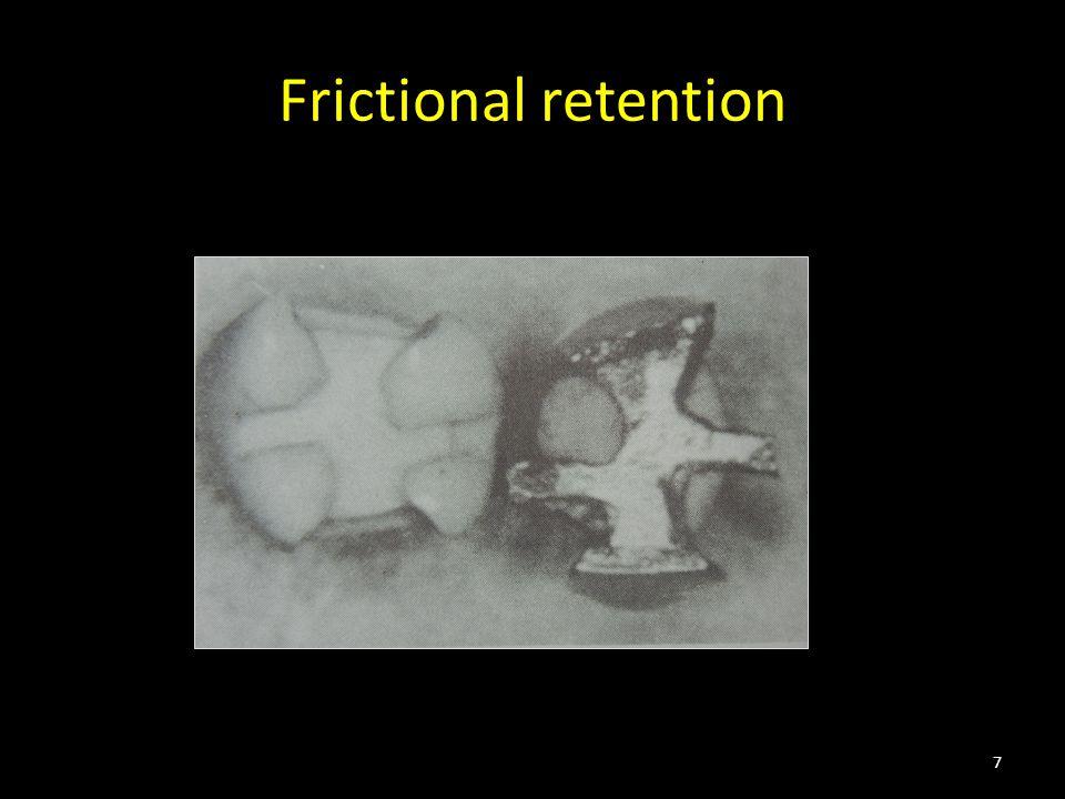Frictional retention 7
