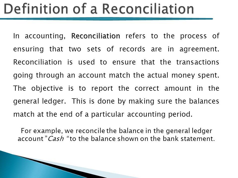 accounts reconciliation example