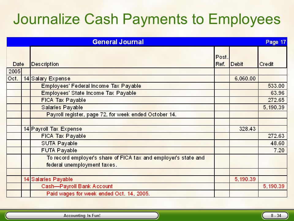 Accounting Is Fun! In Class Example: Make Journal Entry from Register ExpensePayables