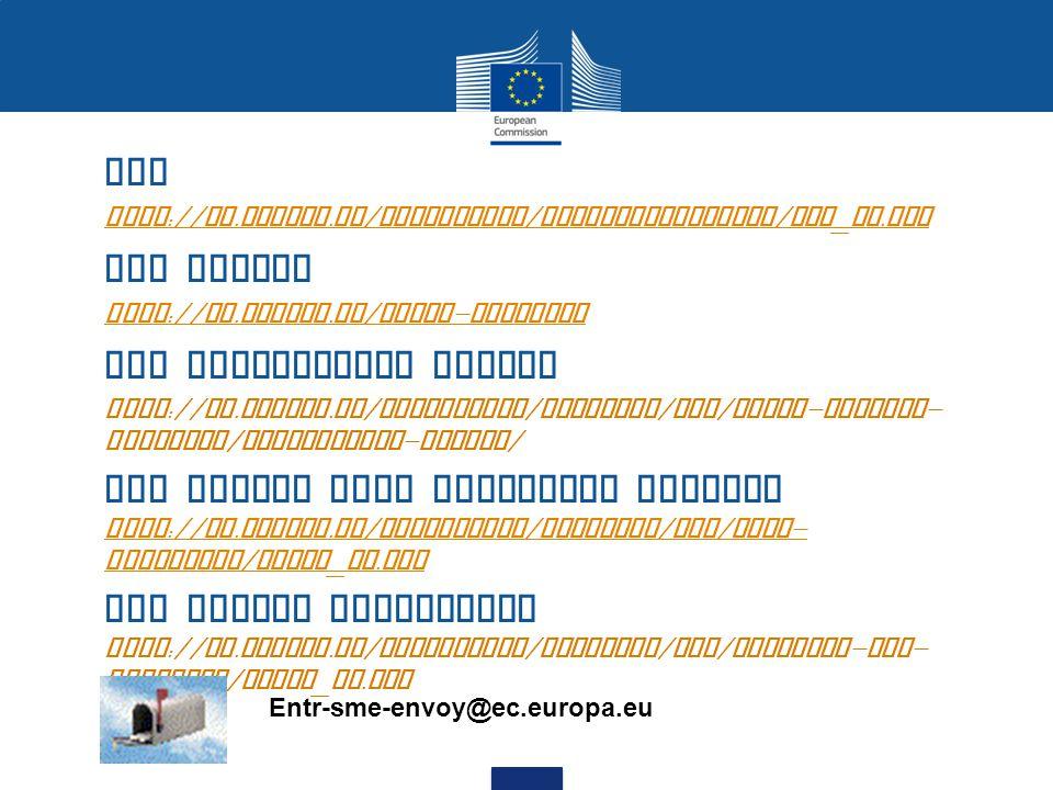 SBA http :// ec. europa. eu / enterprise / entrepreneurship / sba _ en.