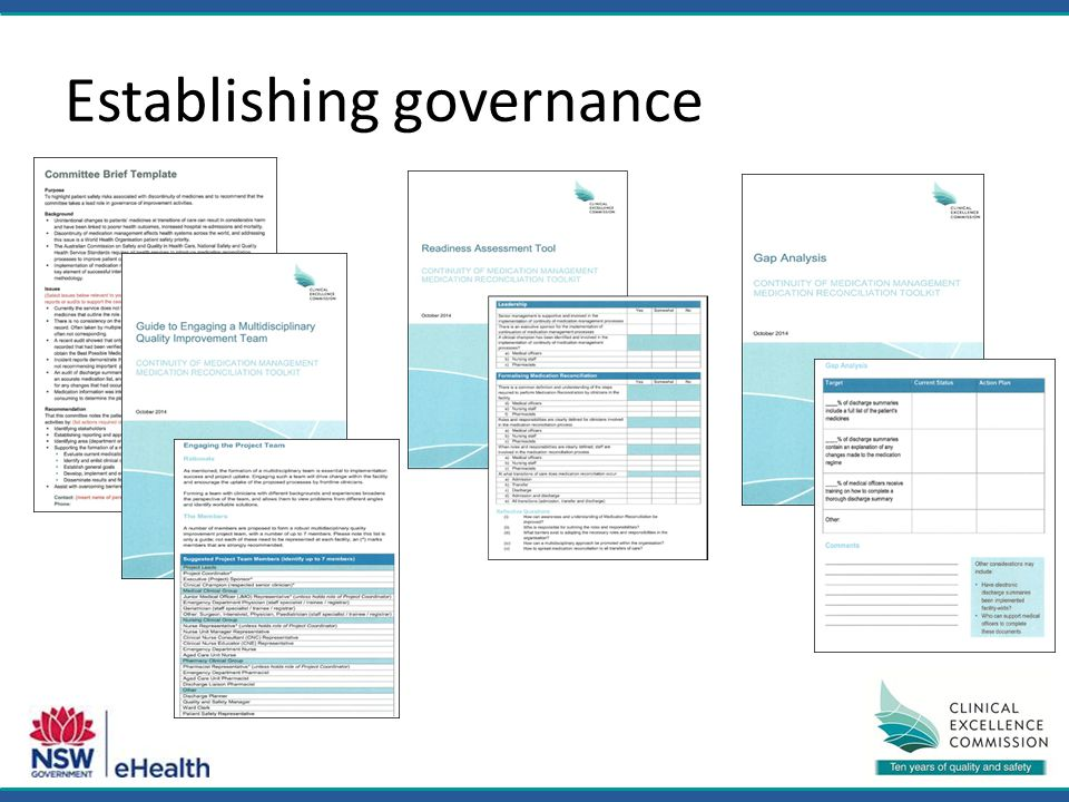Establishing governance