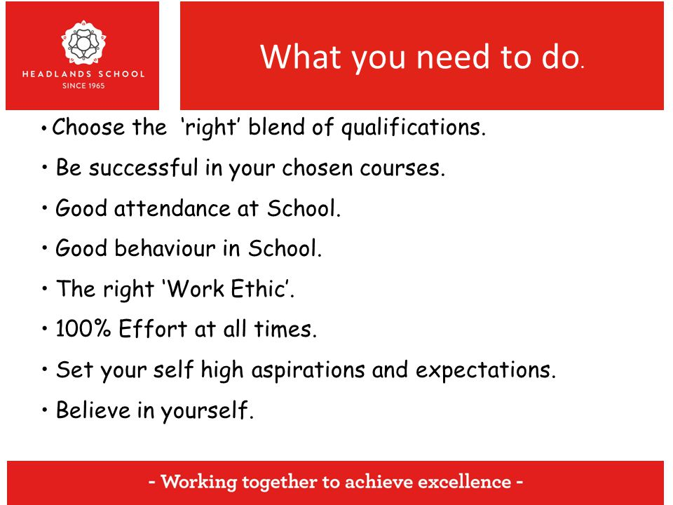 What you need to do. Choose the 'right' blend of qualifications.
