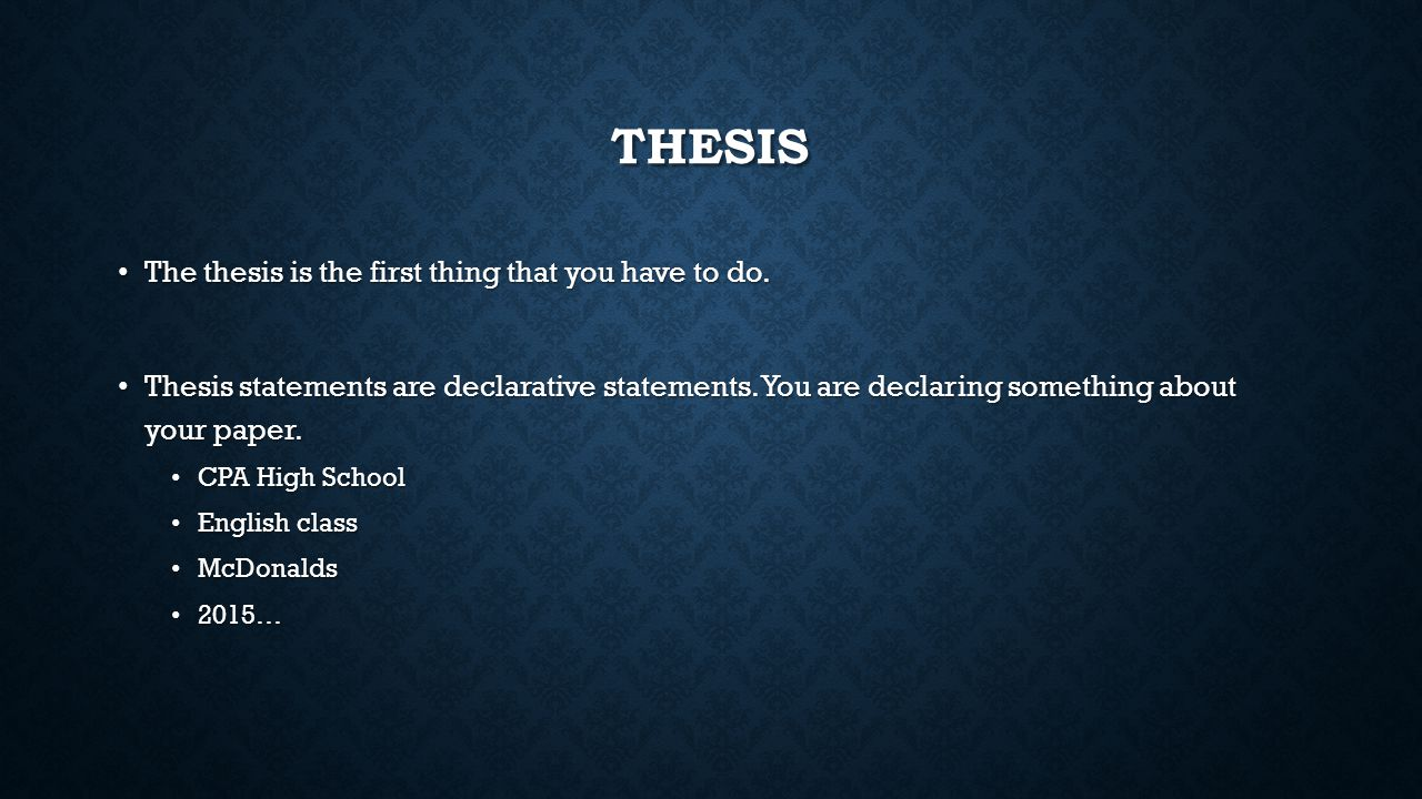 Night thesis statementsrev - SlideShare