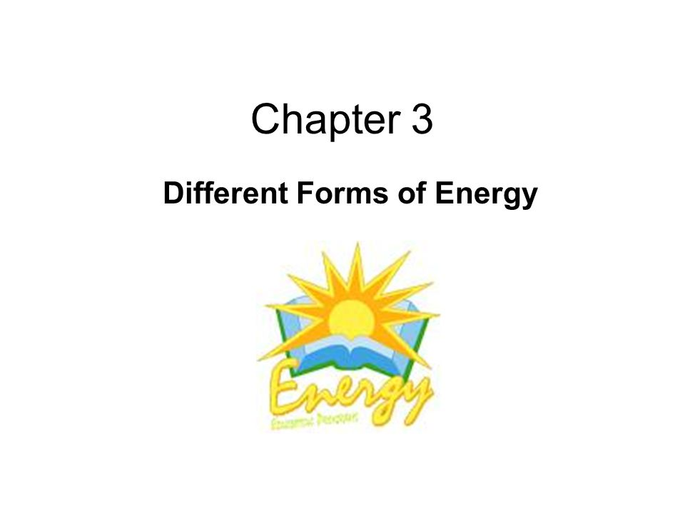 Chapter 3 Different Forms of Energy