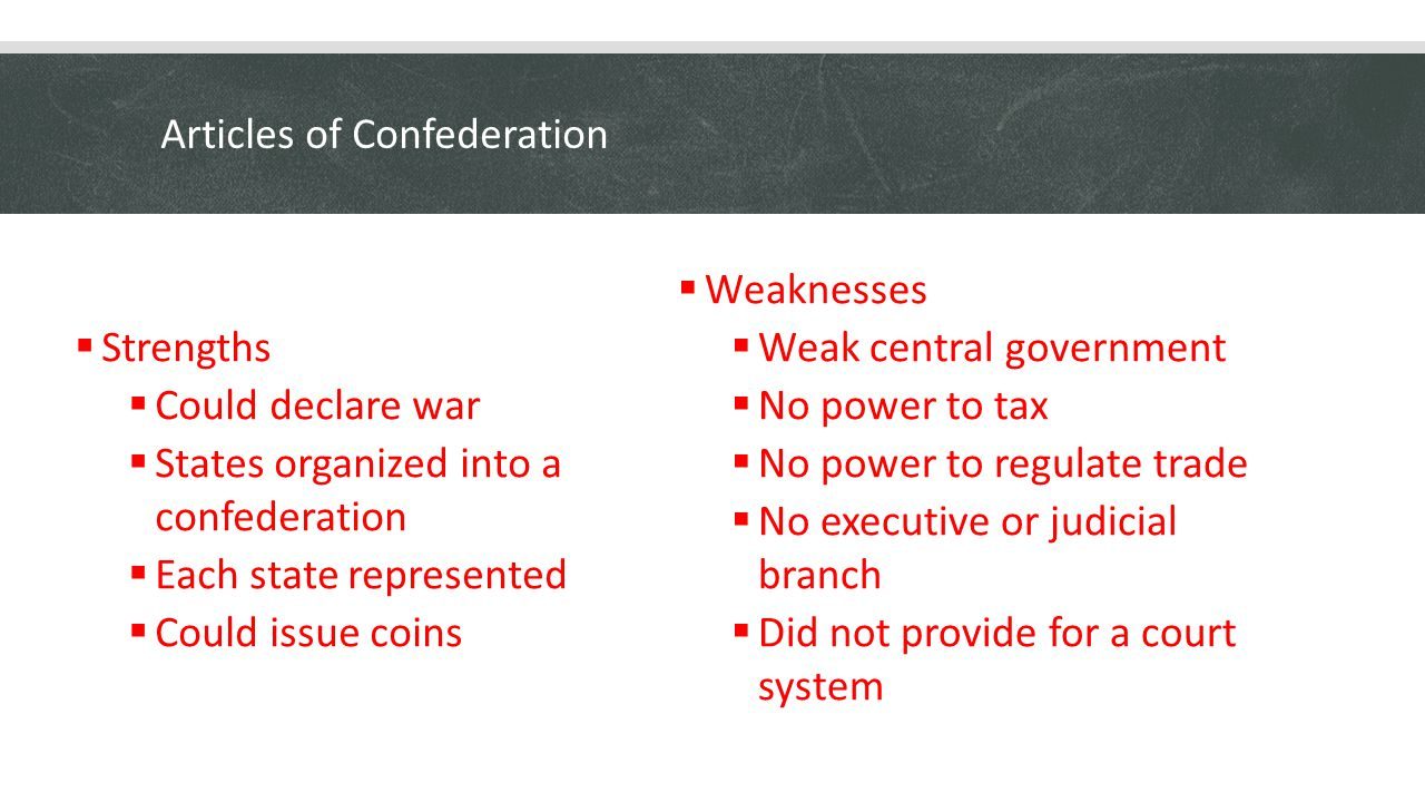 article confederation essay Articles vs confederation essaysthe united states has been run under two constitutions since its existence it was first operated under the articles of confederation.