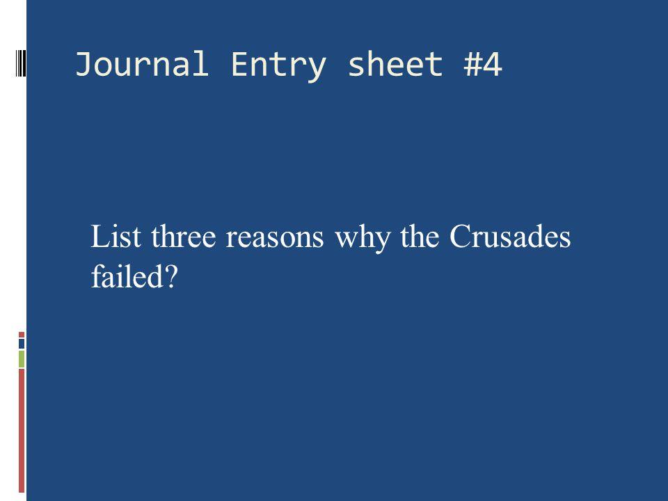 Why did the Crusades fail.