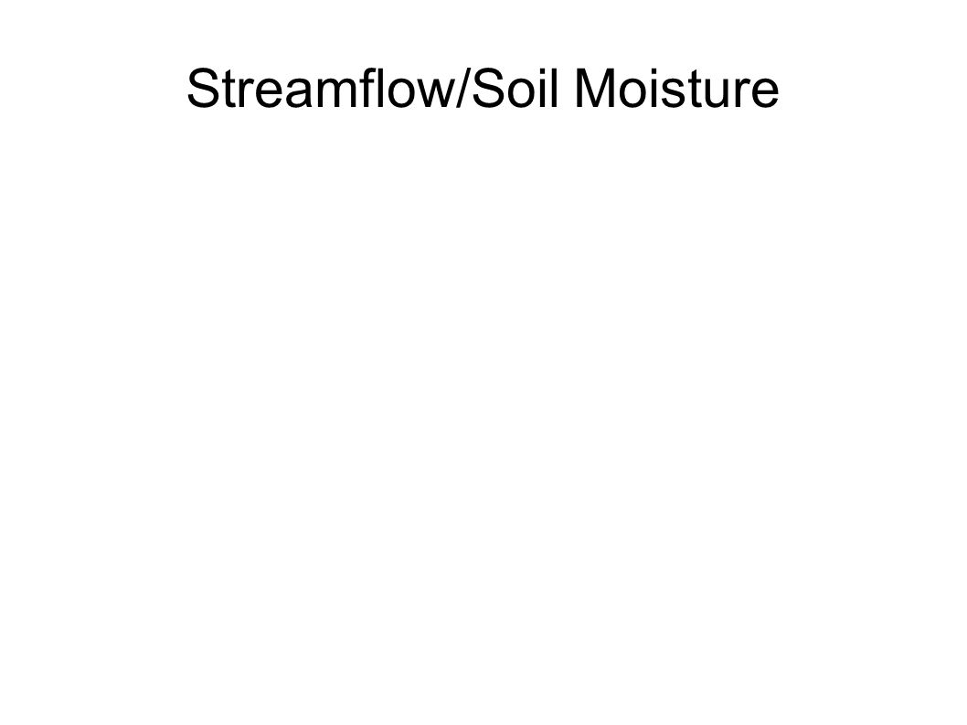 Streamflow/Soil Moisture