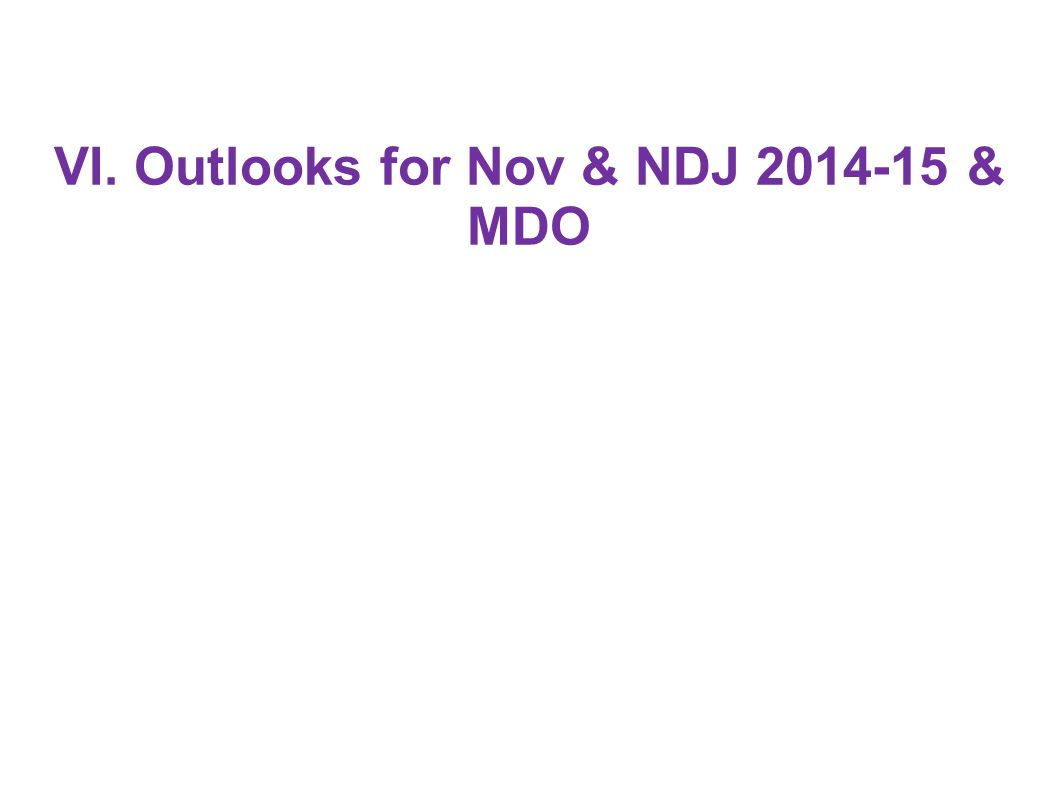 VI. Outlooks for Nov & NDJ & MDO