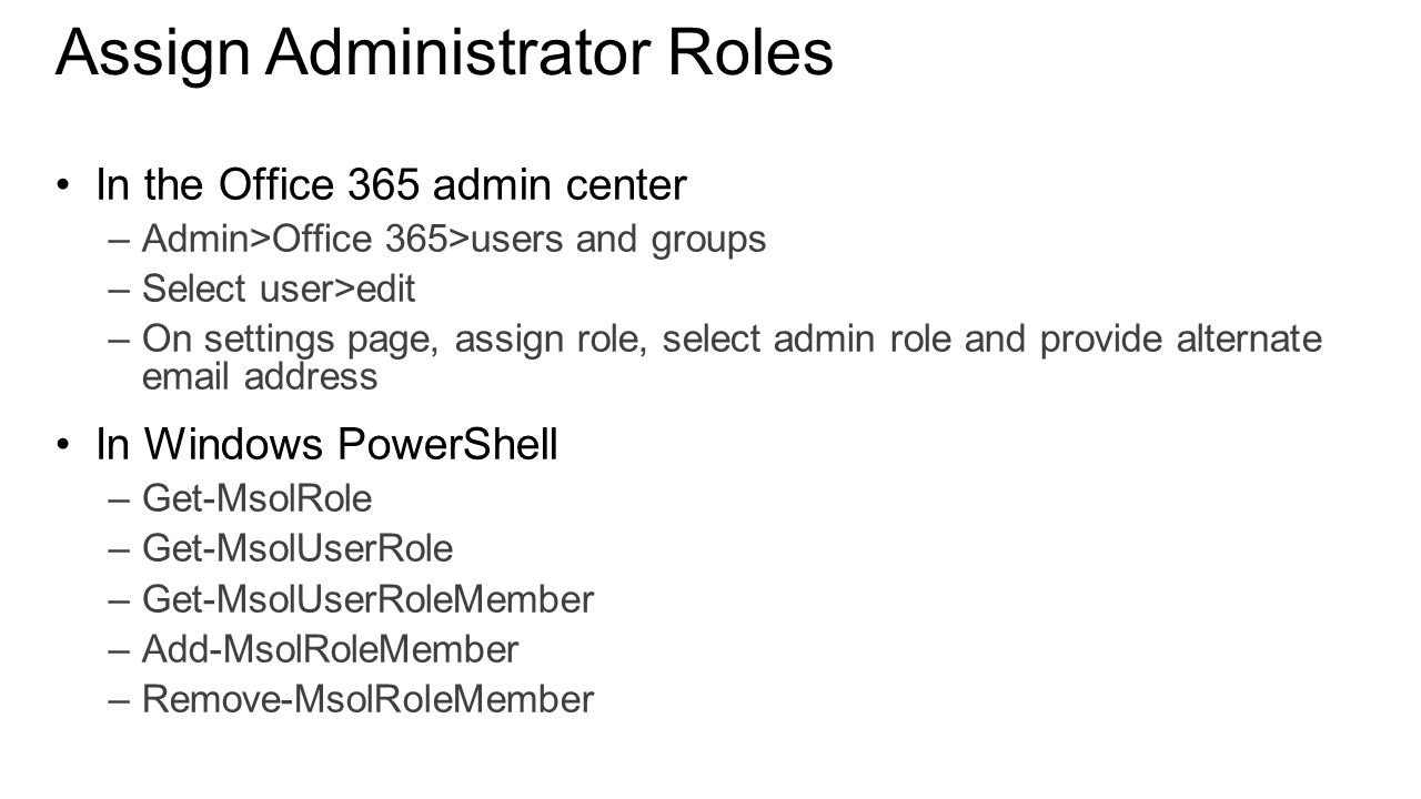 03 Administering Office 365 Anthony Steven – Sharepoint Administrator Duties