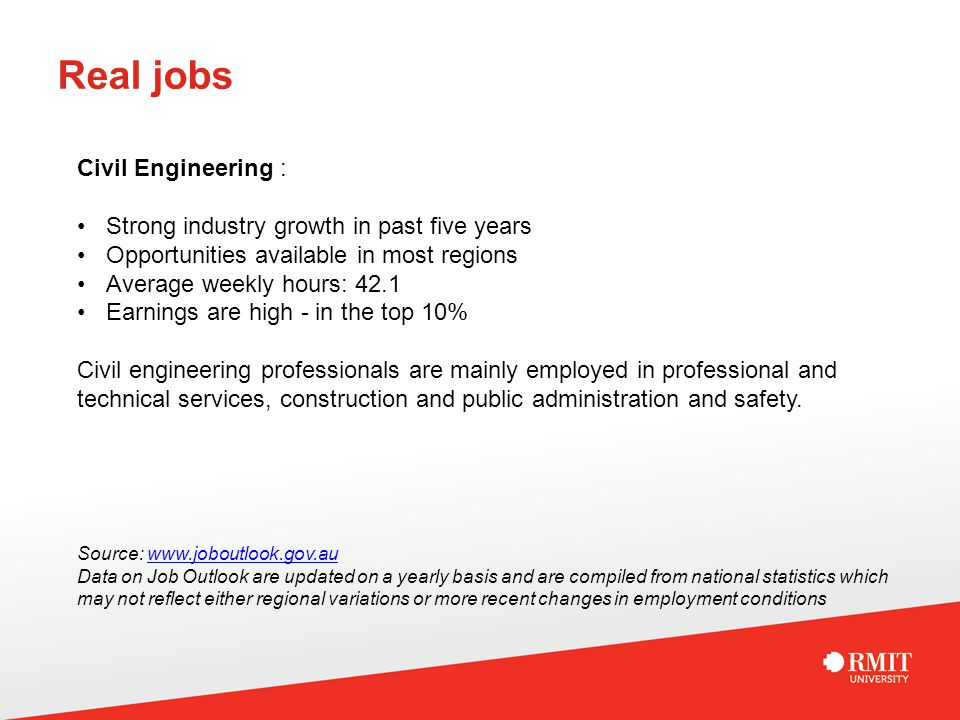 real jobs civil engineering strong industry growth in past five years opportunities available in most - Civil Engineering Job Outlook