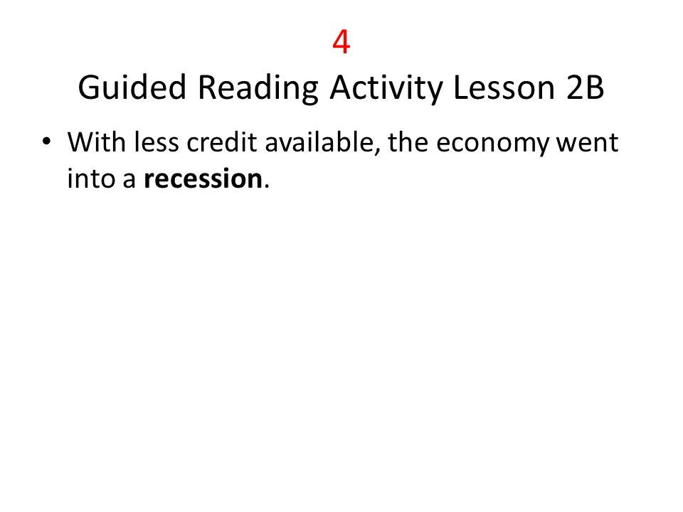 5 Guided Reading Activity Lesson 3C Many Americans in the 1920s bought high-cost items on the installment plan Because they had to pay off their debts, many Americans stopped buying new products.