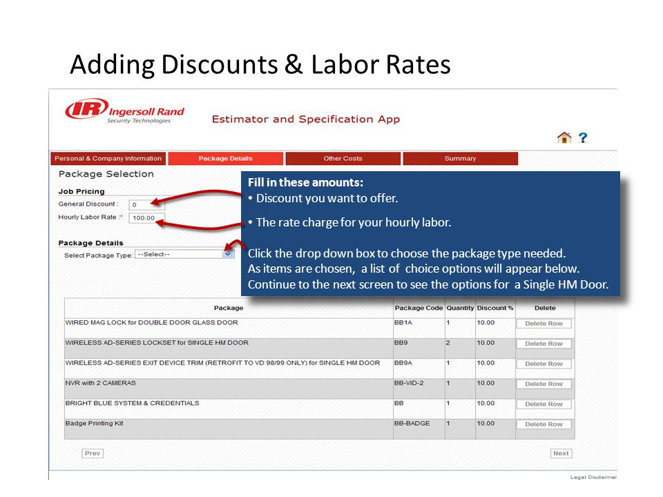 Adding Discounts & Labor Rates Fill in these amounts: Discount you want to offer.