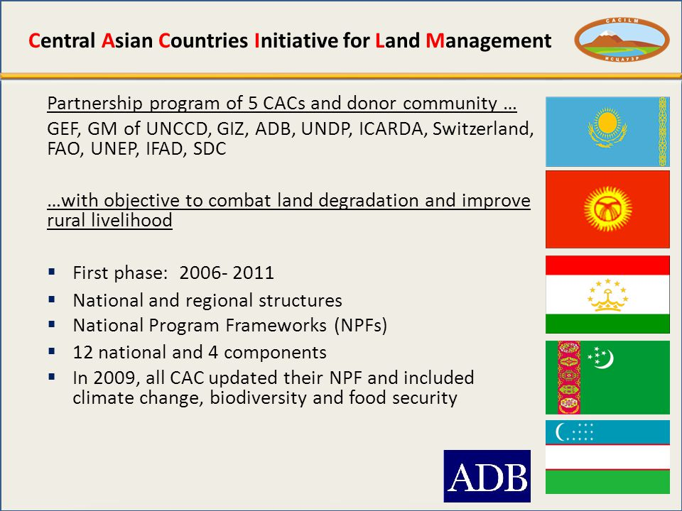 Central Asian Countries Initiative for Land Management